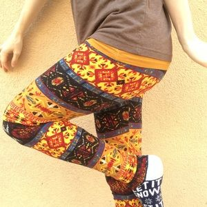 LuLaRoe Pants - LuLaroe Tribal Print Buttery Soft Leggings O/S